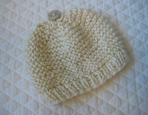 French Baby Knitting Patterns : Bebeknits Simple French Style Garter Stitch Baby Hat Knitting Pattern in 3 SI...