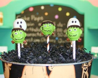 Mom's Killer Cake Pops Frankenstein Cake Pops Other Halloween Styles Available