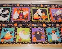 Pumpkin Gang Trick or Treat 23x44 Halloween Panel Fabric by Studio E fabrics