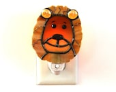 Golden Lion Light Sensor Night Light Kid's Room Playroom Glow in the Dark