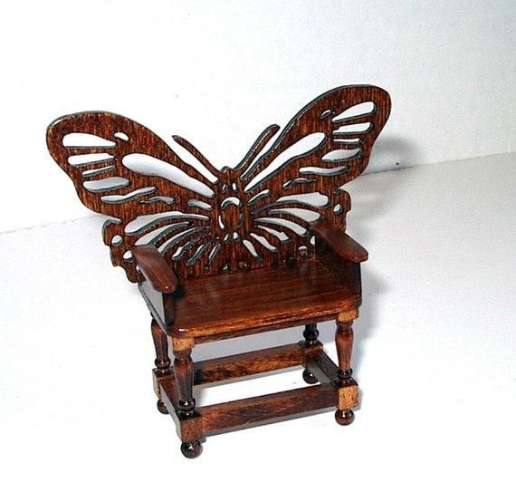 Butterfly Garden Chair Dollhouse Miniature 1 12 Scale Hand