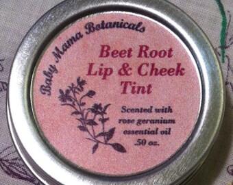Beet Root Lip and Cheek Tint-  .50 oz. Tin