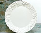 Vintage White Plate - Himark Ceramic Serving Plate - Wedding Decor