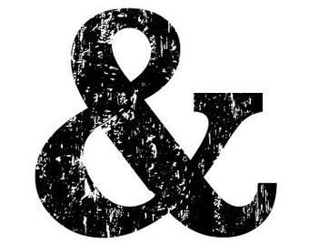 Black and White Ampersand Illustration - Fine Art Print - 5x7