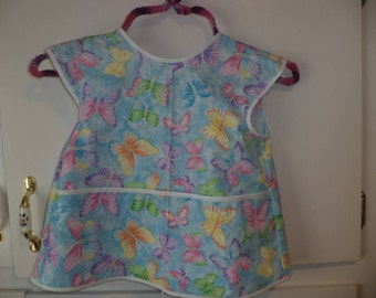 Cobblers Apron, Butterflies, Painting, Crafting, Preschool, Daycare, Toddler Size 4, Clearance Sale