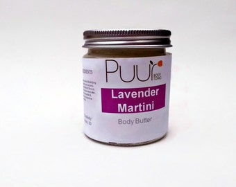 Lavender Martini Body Butter - Calendula Infused Soothing Body Butter - Body Lotion 4oz
