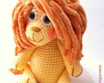 Pattern, Lion Pattern, Crochet Tutorial, Amigurumi Lion Pattern - Crochet Lion Pdf Tutorial - INSTANT DOWNLOAD