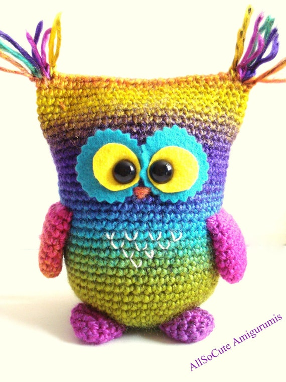 Crochet Tutorial Owl : ... - Owl Pattern, Instant Download, Crochet tutorial, Crochet Owl, Owly