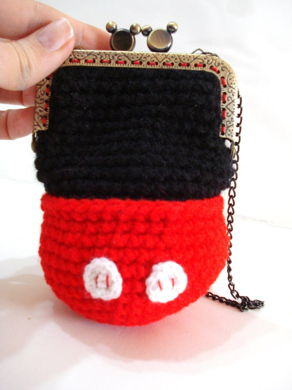 Free Crochet Mickey Mouse Purse Pattern : CROCHET PATTERNS Girls Bag / Purse Mickey Mouse by AllSoCute