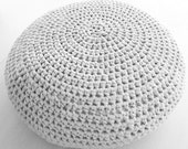 Large Crochet Pouf Ottoman Floor Cushion PDF pattern - Instant Download