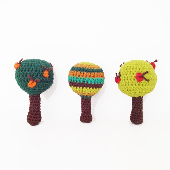 Crochet Apple Tree Rattle Pattern - English (US terms) and Dutch version available - Instant Download