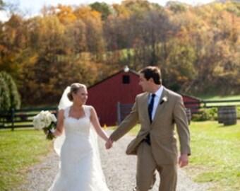 Wedding Veil Silk Pencil Edge Trim 90 Inch Long Chapel Length Veil The Heather Veil