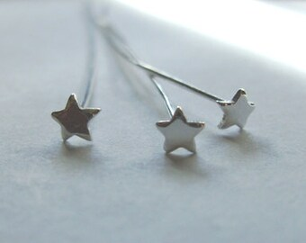 "2.5"" Star Shaped Head Pin .999 Silver over Copper Core 50 pins Hypo-allergenic maliable"