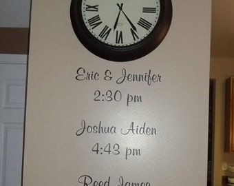 Personalized A moment in time with names and time