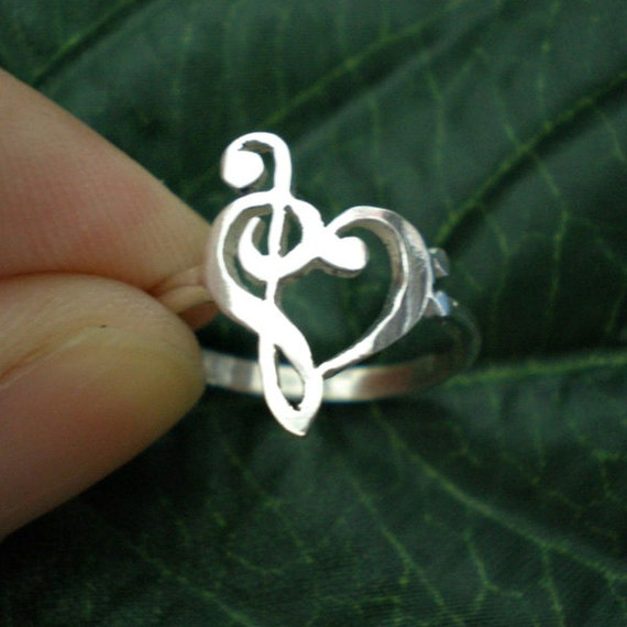 Music Clefs Heart Heart Ring Treble Clef