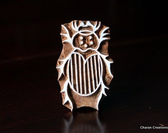 woodblock stamps, Indian Wood Stamps, Blockprint Stamps, Tjaps, Pottery Stamps - Beetle