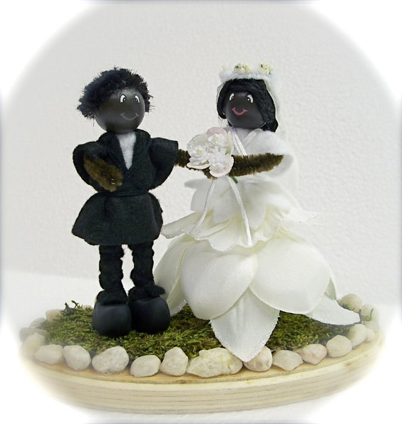 african american cake toppers wedding cake topper american mr amp mrs folk 1239