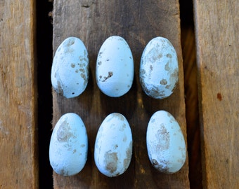 Hand Painted Robin's Eggs, Wood Decor