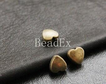 30pcs / Heart / Spacer / Antique Brass Tone / Base Metal (YB14411//E10)
