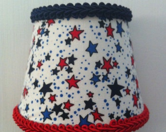 White with Red and Blue Stars Night Light