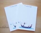 Personalized Notepads - Dachshunds on Gondola (set of 2)