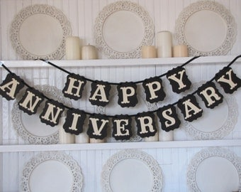 HAPPY ANNIVERSARY Banner, Anniversary Sign, Anniversary Party, 50th Anniversary