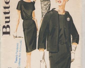 Vintage 50's- Butterick Pattern- Raglan Sleeve Dress - Size12