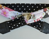 """NEW  """" I LOVE PARIS """" camera strap, reversible, 2 expandable pockets with stretchable elastic"""