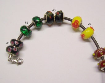 Pick a Pair of Euro Style Beads ... 3 pair remaining ... will fit euro style bracelet, Large Hole Beads, Accessories  ... item G6