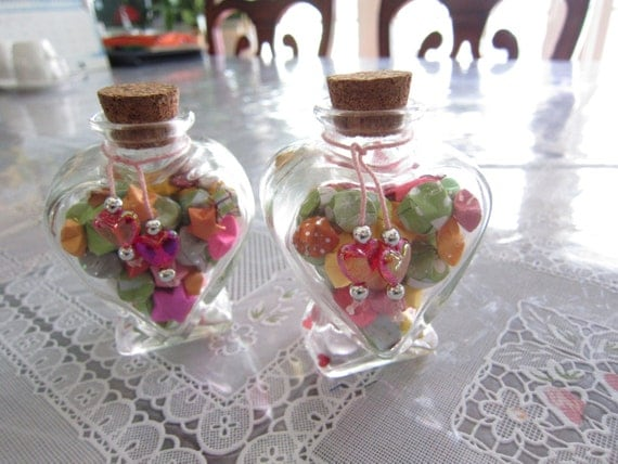 Wishes - Mini Heart Origami Star Jar