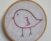 Hoopla hand embroidery birdie hoop