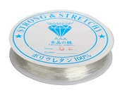 Translucent 1mm Elastic String / Elastic Cord / Clear Beading Thread / Stretch Cord / Bracelet String ... Crystal Thread