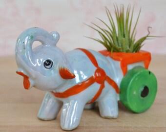 Vintage Elephant Toothpick Holder or Planter