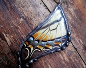 Reserved for Teresa Real Butterfly Wing Pendant - Eastern Tiger Swallowtail
