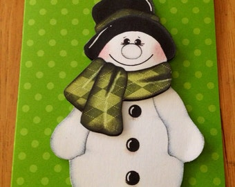 Christmas Snowman card set (5)