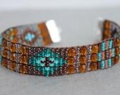 Handmade Artisan Beadwork Bracelet - Sundance Style - Beadweaving - Beadwoven