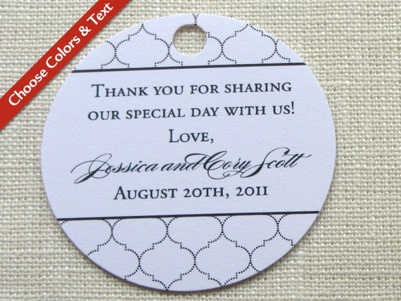 Wedding Favor TagBaby Bridal Shower Gift TagIndian Lattice ...
