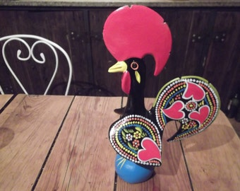 handpainted LUCKY COCK, Portuguese, le cocq du BONHEUR, last one left,traditional, bridegroom gift, weddings