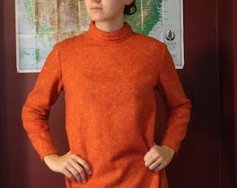 Tunic Blouse Burnt Orange  Handmade and Vintage Size Small
