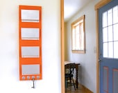 PEKOE: orange modern wall mount mail organization holder key rack letter organizer wall hanging colorful wall entry contemporary decor