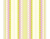 Carousel Stripe in Orchid, 1 Yard, Heather Bailey, Lottie Da, Quilting Cotton