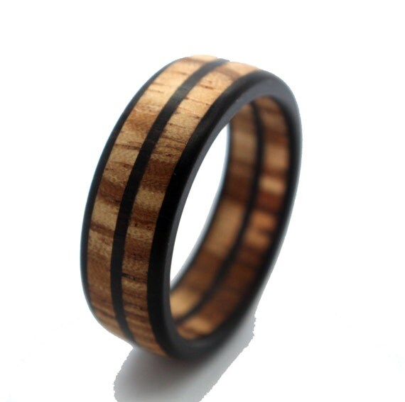 wooden ring wood all zebrawood jewelry for by