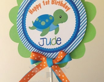 Ocean Friends Collection for Boys: Smash Cake Topper -Under the Sea Birthday -Sea Animal small centerpiece