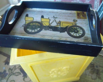 Small Wooden Serving Home Decor Tray