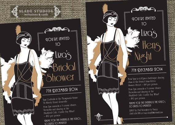 Hens night Great Gatsby 1920s Flapper Bridal Shower