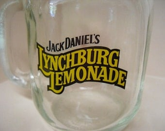 Mason Jar Mugs Jack Daniels Lynchburg Lemonade set of 8 Dining and Serving Picnic Outdoor Barware