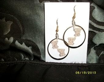 Foot Print Earrings D