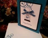 Blue Bird of Happiness - Birthday Card