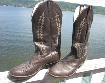 anderson bean boot co. boots, cowboy boots, western boots, vintage mens boots
