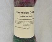 Handfelted Ewe to Mew CAT MAT - 100% natural wool